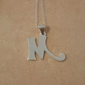 """Sterling Silver Letter """"M"""" Necklace"""